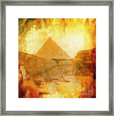 Time Fears The Pyramids Framed Print