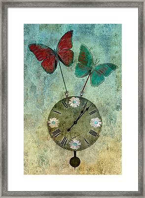 Time Flies Framed Print by Aimelle