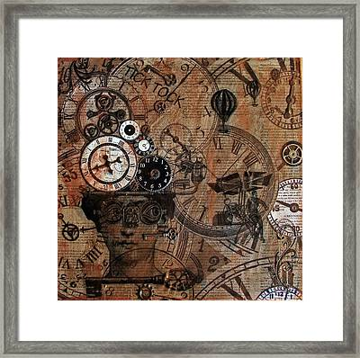 Time Flies Framed Print by Jo Ann Koch
