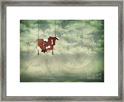 Time Flies Framed Print by Jutta Maria Pusl