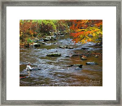 Time Flies  Fly Fishing Smokey Mountains Tennessee Framed Print