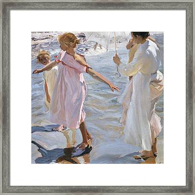 Time For A Bathe Valencia Framed Print