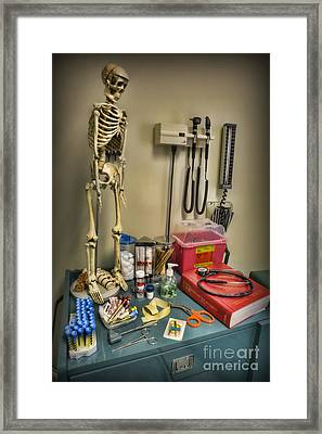 Time For A Checkup - Doctor Framed Print by Lee Dos Santos
