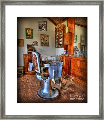 Time For A Cut And Shave - Barber  Framed Print by Lee Dos Santos