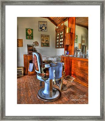 Time For A Cut And Shave II - Barber Framed Print by Lee Dos Santos