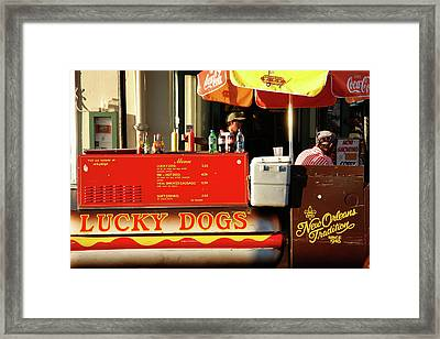 Time For A Lucky Dog Framed Print