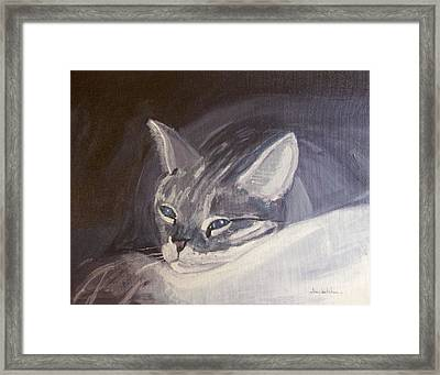 Time For A Nap Framed Print by Lou Belcher