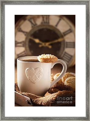 Time For Coffee Framed Print by Amanda Elwell