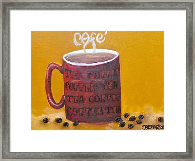 Time For Coffee Framed Print by Melissa Torres