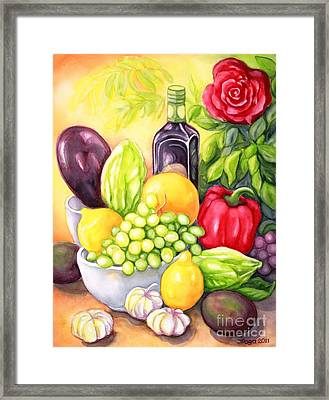 Time For Fruits And Vegetables Framed Print