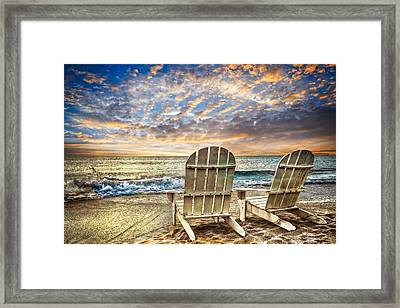 Time For Happy Hour Framed Print by Debra and Dave Vanderlaan