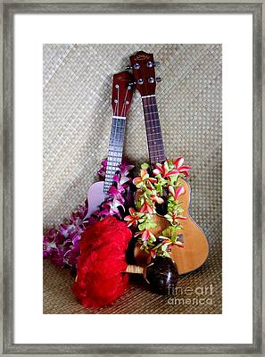 Time For Hula Framed Print by Mary Deal