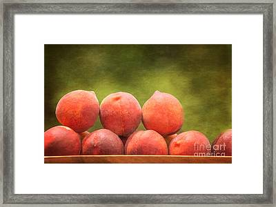 Time For Peaches Framed Print