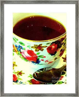 Time For Tea Framed Print by C Lythgo