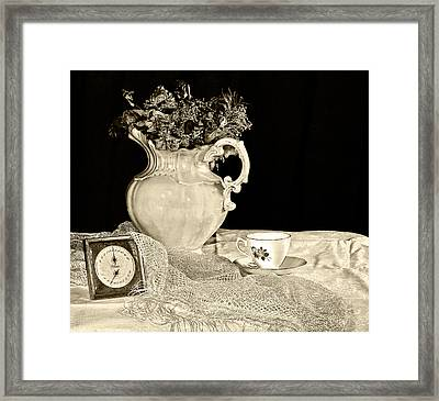 Time For Tea Framed Print by Camille Lopez