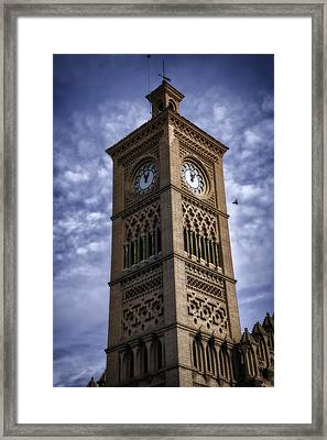 Time For The Train Framed Print by Joan Carroll