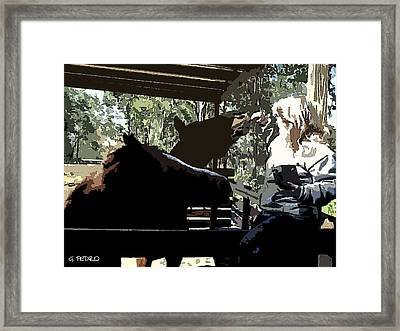 Time For Treats At The Run In Shed Framed Print by George Pedro