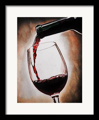 Pour Drawings Framed Prints