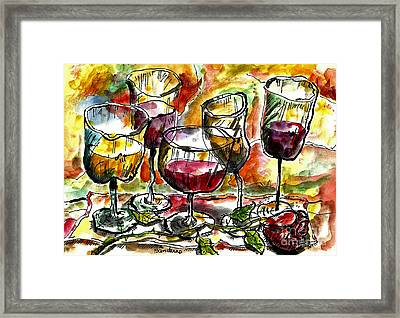 Time For Wine Tasting Framed Print
