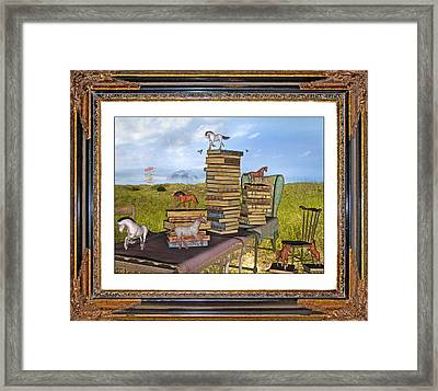 Time Frame Framed Print by Betsy Knapp