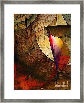 Time Fuse-abstract Art  Framed Print by Karin Kuhlmann