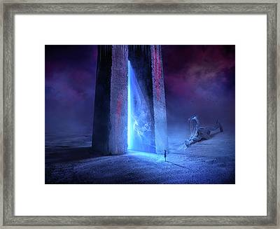 Time Gate Framed Print