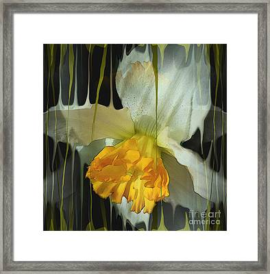 Time Framed Print by Hilda Lechuga