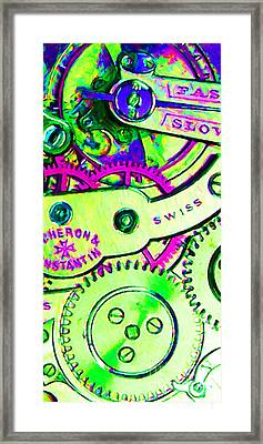 Time In Abstract 20130605m108 Long Framed Print by Wingsdomain Art and Photography