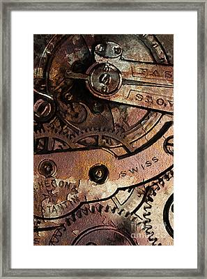 Time In Abstract 20130605rust Framed Print by Wingsdomain Art and Photography