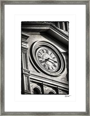Time In Black And White Framed Print