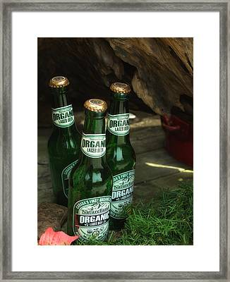 Framed Print featuring the photograph Time In Bottles by Rachel Mirror