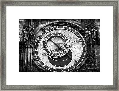 Time In Prague Framed Print by John Rizzuto