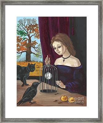 Time In The Cage Framed Print by Margaryta Yermolayeva