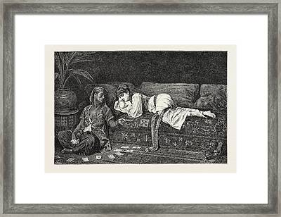 Time In The Harem Framed Print by Litz Collection