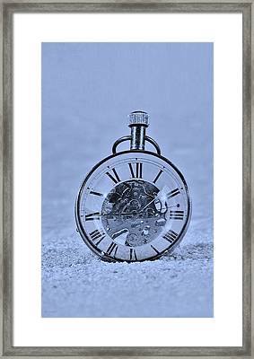 Time In The Sand In Cyan Framed Print by Rob Hans