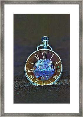 Time In The Sand In Negative Framed Print by Rob Hans