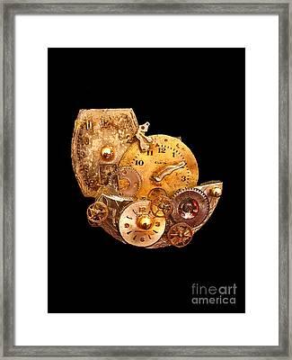Time Is All Around Us Framed Print by Elizabeth Hoskinson