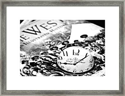 Time  Framed Print by Chastity Hoff