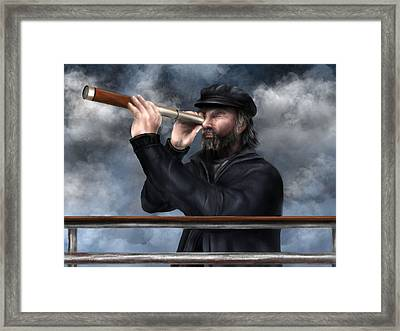 Time Is Running Out Framed Print by Ron Grafe