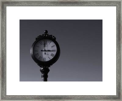 Time Keeper Framed Print by Tom Druin