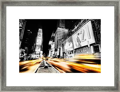 Time Lapse Square Framed Print