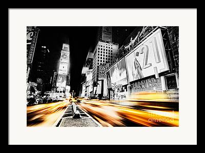 Fast Taxi Framed Prints