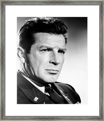 Time Limit, Richard Basehart, 1957 Framed Print by Everett