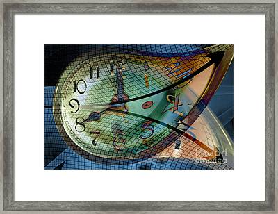 Time Line Split In Two, Conceptual Framed Print by Carol and Mike Werner