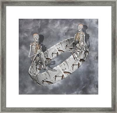Time Management Framed Print by Betsy Knapp