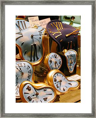 Time Melting Away.. Framed Print by A Rey