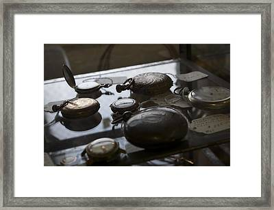 Time Framed Print by Micaela Brown