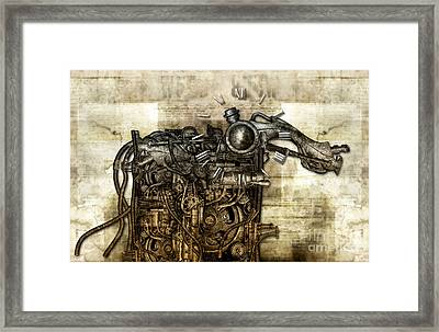 Time Monster Framed Print by Diuno Ashlee