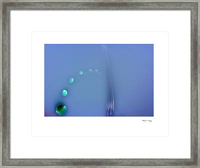 Time On A String 2 Framed Print by Xoanxo Cespon