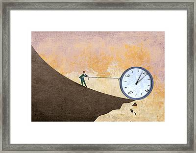 Time On The Edge Framed Print by Steve Dininno